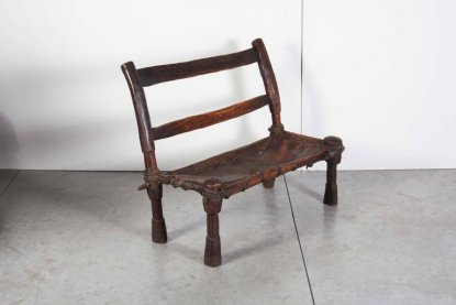 CH371 Ethiopian Bench With Leather Seat L:33 D:17 H:32 Seat H: 13. antique  chinese furniture ... - Asian Antiques New York Antique Chinese Furniture, Antique